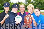 Referee James Cronin with Garda Emma Mullane, Garda Liz Twomey and Marie Walsh and Liz Brosnan Cordal who are preparing for the annual Cordal married ladies verses Kerry Gardai which will be held on the 3oth August   Copyright Kerry's Eye 2008