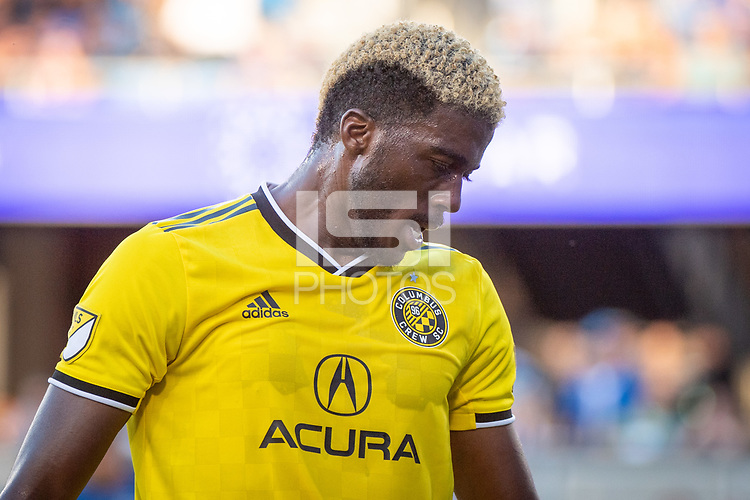 San Jose, CA - Saturday August 03, 2019: Gyasi Zardes #11 in a Major League Soccer (MLS) match between the San Jose Earthquakes and the Columbus Crew at Avaya Stadium.