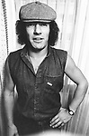 AC/DC 1980 Brian Johnson.© Chris Walter.
