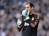 FUSSBALL  INTERNATIONAL  PRIMERA DIVISION  SAISON 2012/2013   26. Spieltag  El Clasico   Real Madrid  - FC Barcelona        02.03.2013 Torwart Diego Lopez (Real Madrid)