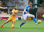 Motherwell v St Johnstone&hellip;13.08.16..  Fir Park<br />Brian Easton and Scott McDonald<br />Picture by Graeme Hart.<br />Copyright Perthshire Picture Agency<br />Tel: 01738 623350  Mobile: 07990 594431
