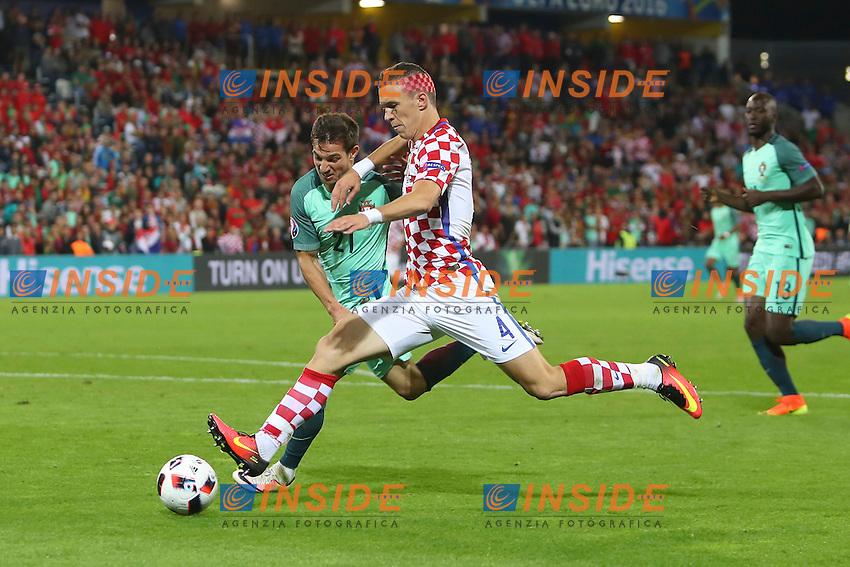 Ivan Perisic (Croatia) vs Cedric (Portugal) <br /> Lens 256-06-2016 Stade Bollaert-Delelis Football Euro2016 Croatia - Portugal / Croazia - Portogallo of 16. Foto Gwendoline Le Goff / Panoramic / Insidefoto
