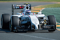 March 14, 2014: Valtteri Bottas (FIN) from the Williams Martini Racing team during practice session two at the 2014 Australian Formula One Grand Prix at Albert Park, Melbourne, Australia. Photo Sydney Low.