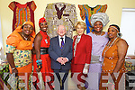 Pictured at the Tralee International Resource Centre for President Michael D. Higgins visit on Wednesday, from left: Daphne Mthethwe, Habi Adebayo, Michael D Higgins, Sabina Coyne, Salome Wambui and Teresa Elumelu.