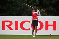 Meghan Maclaren (ENG) on the 3rd tee during Round 3 of the Ricoh Women's British Open at Royal Lytham &amp; St. Annes on Saturday 4th August 2018.<br /> Picture:  Thos Caffrey / Golffile<br /> <br /> All photo usage must carry mandatory copyright credit (&copy; Golffile | Thos Caffrey)