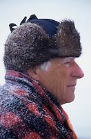 Amérique/Amérique du Nord/Canada/Quebec/Fjord du Saguenay : Pêche blanche - Pêcheur