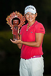 Yani Tseng of Taiwan poses with the trophy after winning the LPGA Sunrise Taiwan Championship on at Sunrise Golf Course on October 23, 2011 in Taoyuan, Taiwan. Photo by Victor Fraile / The Power of Sport Images