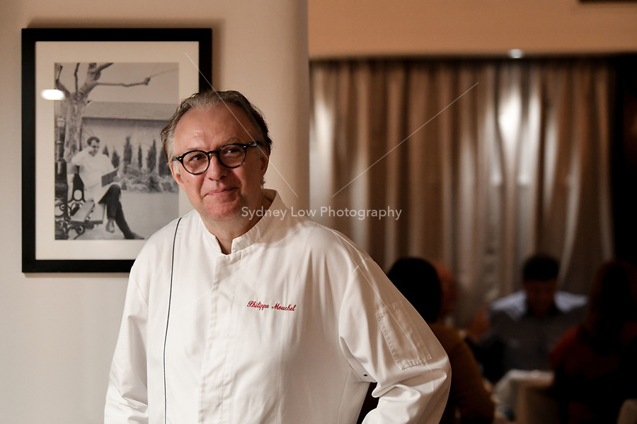 Melbourne, Australia - February 16, 2018: Chef Philippe Mouchel at a Tribute dinner for Paul Bocuse at Restaurant Philippe in Melbourne, Australia. Photo Sydney Low