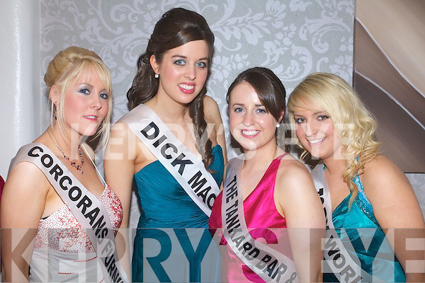 Melissa Perry, Chloe MacDonnell, Linda Browne and Amy Powell contestants at the 2009 Kerry Rose Selection at the Earl of Desmond Hotel, Tralee on Saturday night .
