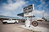 The sign outside the Coffee Station in Crawford, Texas, US, Wednesday, April 14, 2010. President Bush is known to stop at the coffee shop with staff and visitors...PHOTO/ MATT NAGER