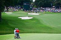 Jon Rahm (ESP) looks over his approach shot on 15 during Sunday's final round of the PGA Championship at the Quail Hollow Club in Charlotte, North Carolina. 8/13/2017.<br /> Picture: Golffile | Ken Murray<br /> <br /> <br /> All photo usage must carry mandatory copyright credit (&copy; Golffile | Ken Murray)