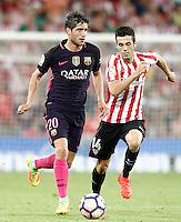 Athletic de Bilbao's Markel Susaeta (r) and FC Barcelona's Sergi Roberto during La Liga match. August 28,2016. (ALTERPHOTOS/Acero) /NORTEPHOTO