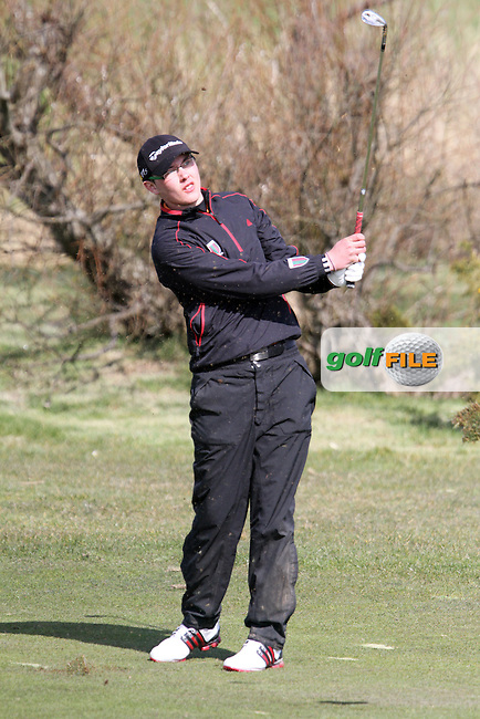 Craig Melvin (Corrstown) on the 1st during the Leinster Youths Amateur Open Championship in the European Club, Brittas Bay, Co.Wicklow. 27/3/13..(Photo Jenny Matthews/www.golffile.ie)