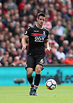 Crystal Palace's Scott Dann in action during the premier league match at the Anfield Stadium, Liverpool. Picture date 19th August 2017. Picture credit should read: David Klein/Sportimage