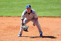 Michael Betz #26 of the Seton Hall Pirates during the Big East-Big Ten Challenge vs. the Michigan State Spartans at Al Lang Field in St. Petersburg, Florida;  February 19, 2011.  Michigan State defeated Seton Hall 5-4.  Photo By Mike Janes/Four Seam Images