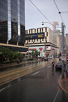 Toronto (ON) CANADA - July 15, 2012 - Thunderstorm in downtown after few days of major heat wave.