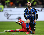 Danilo D'Ambrosio of Inter react after having an effort saved by David Ospina of Napoli during the Coppa Italia match at Giuseppe Meazza, Milan. Picture date: 12th February 2020. Picture credit should read: Jonathan Moscrop/Sportimage