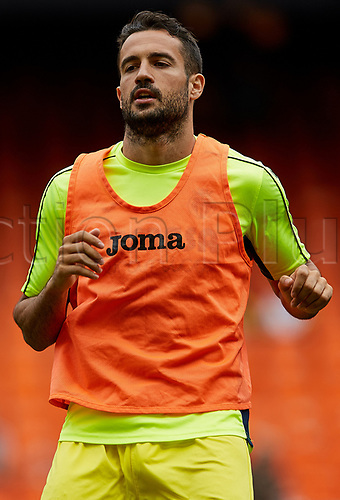 May 21st 2017, Valencia, Spain; La Liga football Valencia CF versus Villarreal CF; Mario Gaspar of Villarreal CF runs during the warming up session prior to the game;