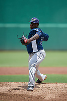 GCL Rays relief pitcher Daiveyon Whittle (23) delivers a pitch during a game against the GCL Red Sox on August 1, 2018 at JetBlue Park in Fort Myers, Florida.  GCL Red Sox defeated GCL Rays 5-1 in a rain shortened game.  (Mike Janes/Four Seam Images)