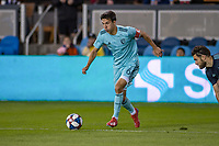 San Jose, CA - Saturday April 20, 2019: A Major League Soccer (MLS) match between the San Jose Earthquakes and Sporting Kansas City at Avaya Stadium.