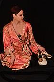 Stock Photo of Woman in silk robe