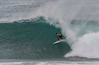 MARGARET RIVER, Western Australia/AUS (Friday, April 13, 2018) Julian Wilson (AUS) - After back-to-back lay days, the opening of the Margaret River Pro did not disappoint today as the world&rsquo;s best surfers took on heavy six-to-eight foot (1.8 - 2.7 metre) conditions at North Point. North Point, the backup event site known for some of the longest and most intense barrels in the world, challenged the surfers in the first seven heats of men&rsquo;s Round 1 at Stop No. 3 on the World Surf League (WSL) Championship Tour. <br /> <br /> Reigning, two-time WSL Champion John John Florence (HAW) found redemption in his opening heat, overcoming wildcard Mikey Wright (AUS), who famously eliminated him in last place at Stop No. 1 on the Gold Coast earlier this year. It was bound to be a monumental heat as the reigning Margaret River Pro event winner needed to regain his footing against Wright and 2018 CT Rookie Wade Carmichael (AUS). All three competitors found incredible waves, but it was Florence whose finesse and timing in the tube saw him take the win with a 14.60 heat total (out of a possible 20).  <br />  Photo: joliphotos.com