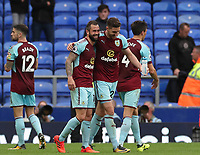 Burnley players at the end of the game<br /> <br /> Photographer Rachel Holborn/CameraSport<br /> <br /> The Premier League - Everton v Burnley - Sunday 1st October 2017 - Goodison Park - Liverpool<br /> <br /> World Copyright &copy; 2017 CameraSport. All rights reserved. 43 Linden Ave. Countesthorpe. Leicester. England. LE8 5PG - Tel: +44 (0) 116 277 4147 - admin@camerasport.com - www.camerasport.com
