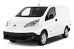 2015 Nissan NV200 Optima 4 Door Cargo Van 2WD Angular Front stock photos of front three quarter view
