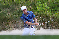 Bethesda, MD - July 1, 2017:  Bryson DeChambeau hits the ball from the bunker during Round 3 of professional play at the Quicken Loans National Tournament at TPC Potomac in Bethesda, MD, July 1, 2017.  (Photo by Elliott Brown/Media Images International)