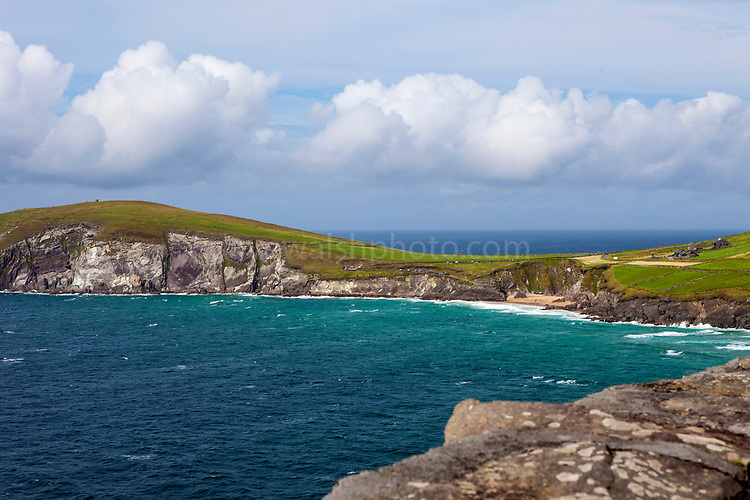 View of Dunmore head and the Blasket Islands, Slea Head, Dingle Peninsula, Kerry, Ireland
