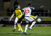 Bolton Wanderers' Joe Dodoo competing with Burton Albion's John-Joe O'Toole (left) <br /> <br /> Photographer Andrew Kearns/CameraSport<br /> <br /> The Premier League - Leicester City v Aston Villa - Monday 9th March 2020 - King Power Stadium - Leicester<br /> <br /> World Copyright © 2020 CameraSport. All rights reserved. 43 Linden Ave. Countesthorpe. Leicester. England. LE8 5PG - Tel: +44 (0) 116 277 4147 - admin@camerasport.com - www.camerasport.com