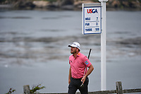 Graeme McDowell (NIR) heads down 9 during round 2 of the 2019 US Open, Pebble Beach Golf Links, Monterrey, California, USA. 6/14/2019.<br /> Picture: Golffile | Ken Murray<br /> <br /> All photo usage must carry mandatory copyright credit (© Golffile | Ken Murray)