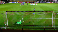 Leicester City U21s' Hamza Choudhury scores from the penalty spot<br /> <br /> Photographer Alex Dodd/CameraSport<br /> <br /> The EFL Checkatrade Trophy - Northern Group B - Fleetwood Town v Leicester City U21 - Tuesday September 11th 2018 - Highbury Stadium - Fleetwood<br />  <br /> World Copyright &copy; 2018 CameraSport. All rights reserved. 43 Linden Ave. Countesthorpe. Leicester. England. LE8 5PG - Tel: +44 (0) 116 277 4147 - admin@camerasport.com - www.camerasport.com