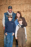 Families gather after Christmas at the Cuneo Ranch in California's Mother Lode. Christopher and Teresa and their boys.