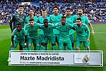 Team photo of Real Madrid during La Liga match between Real Madrid and RCD Espanyol at Santiago Bernabeu Stadium in Madrid, Spain. December 07, 2019. (ALTERPHOTOS/A. Perez Meca)