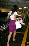 .AbilityFilms@yahoo.com.805-427-3519.www.AbilityFilms.com.....June 7th 2012..Tracey Edmonds leaves the nail salon barefoot carrying her shoes & a big white purse .in Beverly Hills......