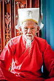 VIETNAM, Cao Dai Temple in the City of Tay Ninh, Old Priest Portrait