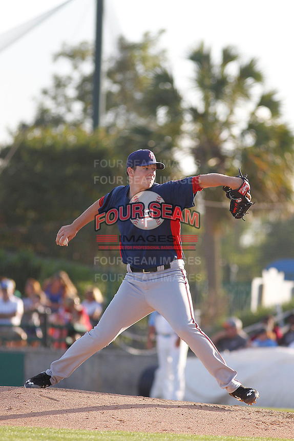 Potomac Nationals pitcher Nick Pivetta (40) in action during a game against the Myrtle Beach Pelicans at Ticketreturn.com Field at Pelicans Ballpark on May 24, 2015 in Myrtle Beach, South Carolina.  Potomac defeated Myrtle Beach 1-0. (Robert Gurganus/Four Seam Images)