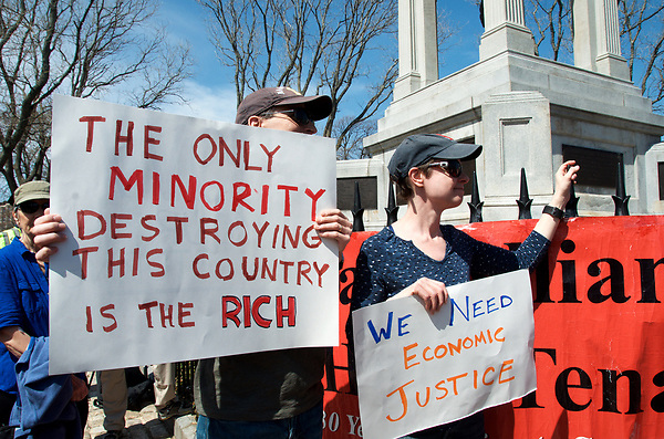 Tax day protest of Trump at Cambridge Common Cambridge MA 4.15.17