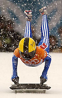 Russia's Ekaterina Mironova. Skeleton, Wednesday morning at the Utah Olympic Park, 2002 Olympic Winter Games.; 02.20.2002, 10:02:26 AM<br />