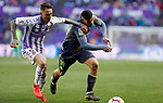 Real Sociedad's Theo Hernandez and Real Valladolid's Fernando Calero during La Liga match. March 31, 2019. (ALTERPHOTOS/Manu R.B.)