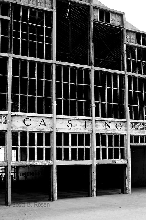 The old Asbury Park Casino under construction, Asbury Park, New Jersey