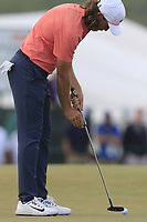 Tommy Fleetwood (ENG) putts on the 13th green during Saturday's Round 3 of the 118th U.S. Open Championship 2018, held at Shinnecock Hills Club, Southampton, New Jersey, USA. 16th June 2018.<br /> Picture: Eoin Clarke | Golffile<br /> <br /> <br /> All photos usage must carry mandatory copyright credit (&copy; Golffile | Eoin Clarke)