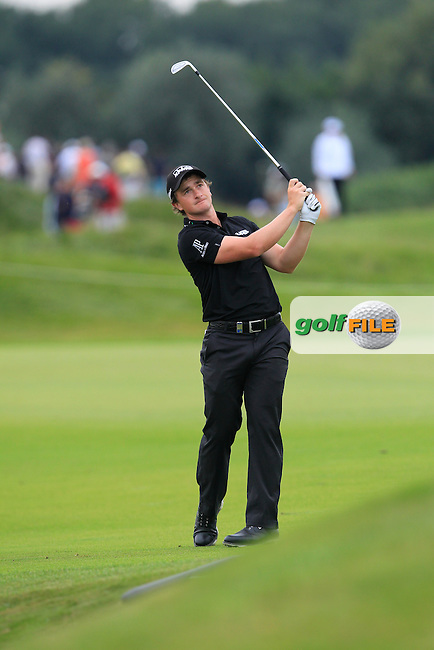 Paul Dunne (IRL) on the 5th fairway during Round 4 of the 2016 KLM Open at the Dutch Golf Club at Spijk in The Netherlands on  Sunday 11/09/16.<br /> Picture: Thos Caffrey | Golffile