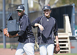 (L-R) Ivan Nova, Masahiro Tanaka (Yankees),<br /> FEBRUARY 21, 2015 - MLB :<br /> New York Yankees spring training camp in Tampa, Florida, United States. (Photo by AFLO)