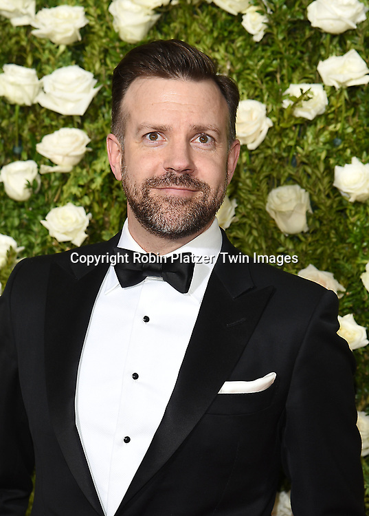 Jason Sudeikis  attends the 71st Annual  Tony Awards on June 11, 2017 at Radio City Music Hall in New York, New York, USA.<br /> <br /> photo by Robin Platzer/Twin Images<br />  <br /> phone number 212-935-0770