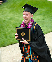 Emily Johnson. The class of 2015 graduates during Occidental College's 133rd Commencement, the Remsen Bird Hillside Theater, on Sunday, May 17, 2015.<br />