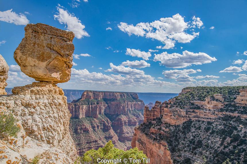 Blanced Rock on Grand Canyon rim, Grand Canyon National Park, Arizona, North Rim, Cape Royal