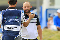 Andy Sullivan (ENG) finishes on the 18th green during Saturday's Round 3 of the 2018 Dubai Duty Free Irish Open, held at Ballyliffin Golf Club, Ireland. 7th July 2018.<br /> Picture: Eoin Clarke | Golffile<br /> <br /> <br /> All photos usage must carry mandatory copyright credit (&copy; Golffile | Eoin Clarke)