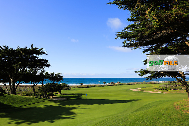A general view of the10th hole Shore Course, Monterey Peninsula Country Club during previews ahead of the AT&amp;T Pro-Am, Pebble Beach Golf Links, Monterey, California, USA. 06/02/2019<br /> Picture: Golffile | Phil Inglis<br /> <br /> <br /> All photo usage must carry mandatory copyright credit (&copy; Golffile | Phil Inglis)